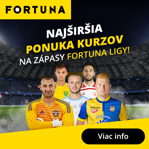 Sleduj živé prenosy a stav si live na Fortuna ligu!